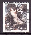 Stamps Europe - Sweden -  Pintura de Ernst Josephson