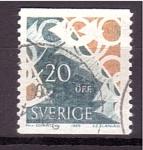 Stamps Europe - Sweden -  Cuerno de Correo