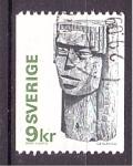 Stamps Europe - Sweden -  Escultura vikinga