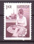 Sellos de Europa - Suecia -  Artesanía de bolillos