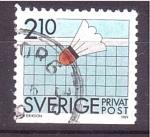 Stamps Sweden -  Campeonato de Ping- Pong