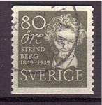 Sellos de Europa - Suecia -  Strindberg