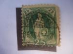 Stamps : Europe : Switzerland :  helvetia de Pié.