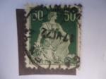 Stamps : Europe : Switzerland :  Helvetia con Espada