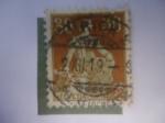 Stamps : Europe : Switzerland :  Helvetia con Espada.