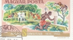 Stamps : Europe : Hungary :  CENTENARIO ALBERT SCHWEITZER MISIONERO MÉDICO