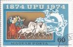 Stamps : Europe : Hungary :  CENTENARIO UPU