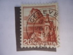 Stamps : Europe : Switzerland :  Bahía Lugano - Monte San Salvatore- Iglesia Castagnola.