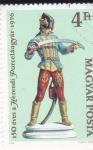 Stamps : Europe : Hungary :  FIGURA DE PORCELANA