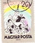 Sellos de Europa - Hungría -  Maestra leyendo cuentos de hadas
