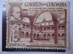 Stamps : America : Colombia :  III Centenario del Colegio Mayor de Nuestra Señora del Rosario (1653-1953) Claustro y Estatua de su