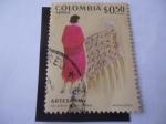 Stamps : America : Colombia :  Artesanía - Artesanía Colombiana - Dibujo de Mosdóssy