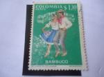 Stamps : America : Colombia :  Bambuco - Folclor Colombiano: Baile de la Cumbia