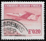 "Stamps of the world : Chile :  Matasello ""Punta Arenas. Recep."""