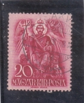 Stamps Hungary -  San Esteban entronado
