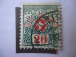 Stamps : Europe : Switzerland :  Numeral - Cruz Blanca de la Bandera