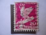 Stamps : Europe : Switzerland :  Conferencia de Paz - Paloma de la Paz Sobre Espada Rota.