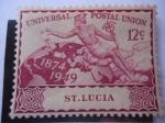 Sellos del Mundo : Europa : Santa_Lucia :  África del Este Británica - St. Lucia -Unión Postal Universal-U.P.U.