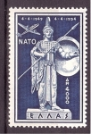 de Europa - Grecia -  5 aniv. entrada en la OTAN- Palas Atenea