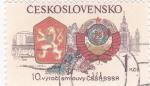 Sellos de Europa - Checoslovaquia -  ESCUDOS  Y PANORÁMICA