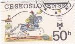 Sellos de Europa - Checoslovaquia -  CORREO A CABALLO
