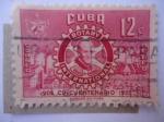 sellos de America - Cuba -  Rotary International-Club de Servicio-Fundador:Paul P.Harris (1868-1947)
