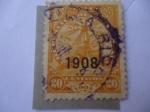 Sellos de America - Paraguay -  Paz y Justicia-U.P.U - Serie:Ediciones Regulares 1905-1910 - Sobreimpreso.