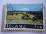 Sellos de Europa - Islandia -  Parque Nacional de Snaefellsjökull- Volcán de Snaefell -Paisaje -