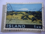 Stamps : Europe : Iceland :  Parque Nacional de Snaefellsjökull- Volcán de Snaefell -Paisaje -