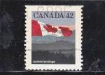 Sellos de America - Canadá -  BANDERA CANADIENSE
