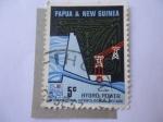 Stamps Oceania - Papua New Guinea -  Hidroelectricidad - Década Hidrológica Internacional - Dique-Represa.
