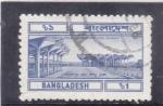 Stamps Bangladesh -  ESTACIÓN DE TREN EN DHAKA