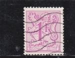 Stamps Belgium -  cifra-y león rampante