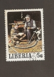 Stamps Liberia -  Boy-scouts