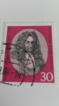 Stamps Germany -  Gottfried Wilhelm Leibnitz
