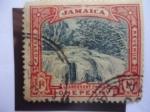 Stamps : Europe : United_Kingdom :  Llandovery Falls - Cascada -Establecimiento de Jamaica como territorio Británico.
