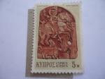 Stamps : Asia : Cyprus :  San Jorge y el Dragón-Talla de madera.