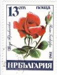 Stamps Bulgaria -  FLORES- ROSA