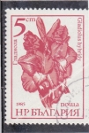 Stamps Bulgaria -  FLORES-GLADIOLO