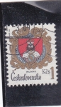 Sellos de Europa - Checoslovaquia -  ESCUDO DE MILEVSKO