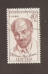 Sellos de Europa - Checoslovaquia -  W. I. Lenin