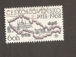 Stamps Czechoslovakia -  50 Aniv. de la república