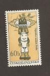 Stamps Czechoslovakia -  I Cenenario Museo Etnológico de Praga