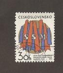 Sellos de Europa - Checoslovaquia -  1º Congreso de la Unión de la Juventud socialista
