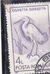 Stamps Romania -  AVE- EGRETTA GARZETTA
