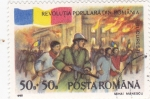 Stamps : Europe : Romania :  REVOLUCIÓN POPULAR EN BUCAREST