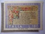 Stamps Italy -  Edición Jesina de la Divina Comedia - Primeros Versos.
