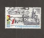 Sellos de Europa - Checoslovaquia -  Barcos mercantes