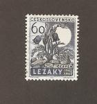 Stamps Czechoslovakia -  20 Aniv. de la destrucción por los nazis de Lezaky