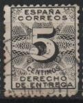 Stamps Spain -  Derecho d´entrega